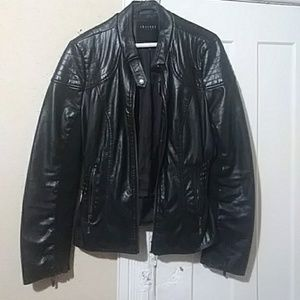 Jackets & Blazers - Black moto faux leather jacket